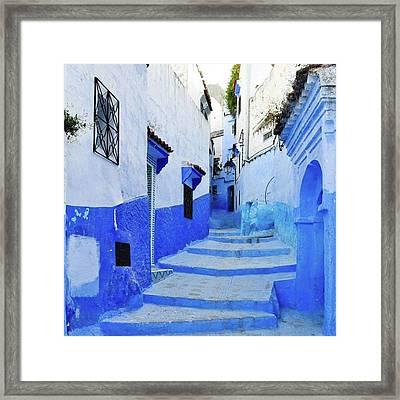 Blue Town(morocco) #mytravelgram Framed Print by Seiji Hori