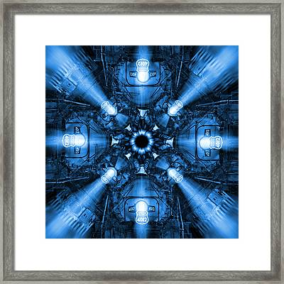 Blue Train Abstract 2 Framed Print by Mike McGlothlen