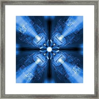 Blue Train Abstract 3 Framed Print by Mike McGlothlen