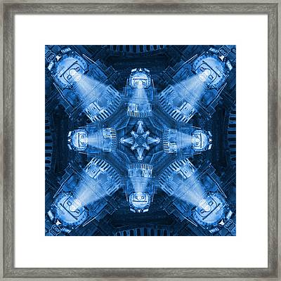 Blue Train Abstract 4 Framed Print by Mike McGlothlen