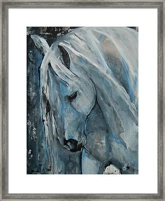 Framed Print featuring the painting Tranquility by Jani Freimann
