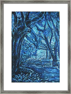 Blue Trees Framed Print by Patricia Gomez