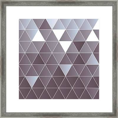 Blue Triangles Framed Print