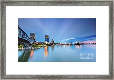Blue Twilight In Milwaukee Framed Print