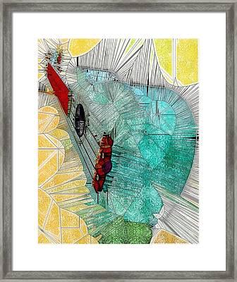 Blue Ukelele Framed Print