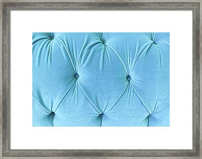 Blue Upholstery Framed Print by Tom Gowanlock