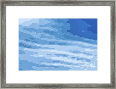 Blue Vector Sky White Clouds Framed Print