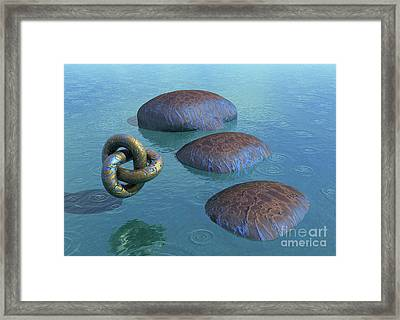 Blue Vein Of Life - Surrealism Framed Print by Sipo Liimatainen