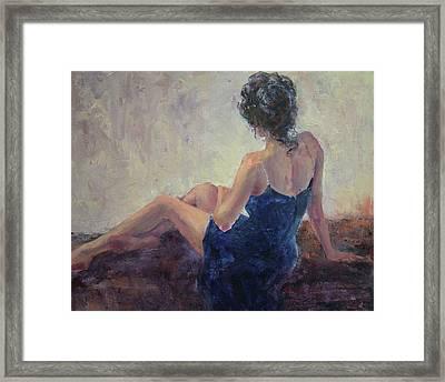 Blue Velvet Framed Print by Jill Musser