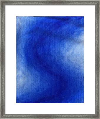 Blue Vibration Framed Print