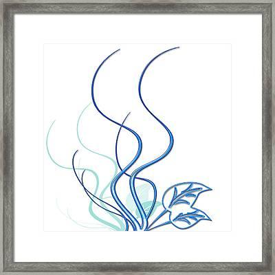 Blue Vine Framed Print by Svetlana Sewell
