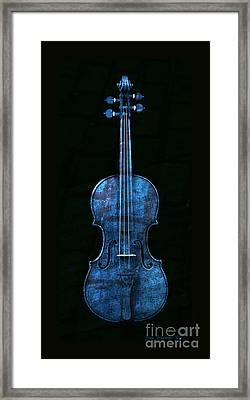 Blue Violin Framed Print by John Stephens