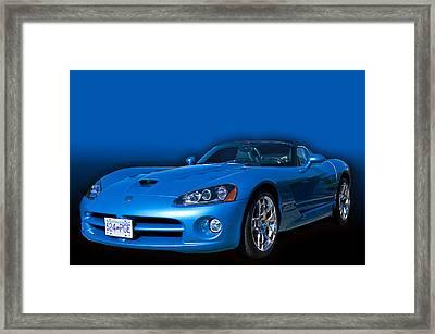 Blue Viper Framed Print by Jim  Hatch