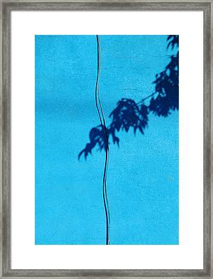 Framed Print featuring the photograph Blue Wall by JoAnn Lense