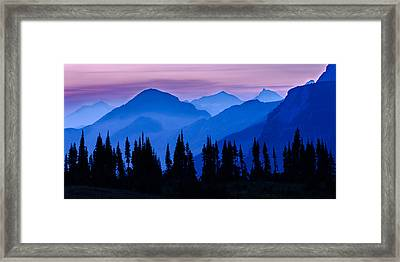 Blue Wall Framed Print by Mike Lang