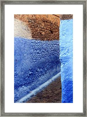 Framed Print featuring the photograph Blue Walls Of Chefchaouen by Ramona Johnston