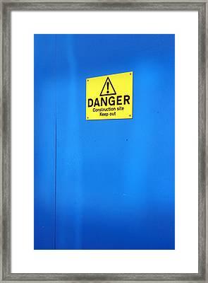 Blue Warning 2 Framed Print by Jez C Self
