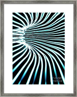 Blue Warp Framed Print