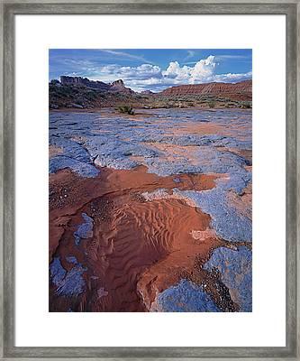 Blue Wash Framed Print
