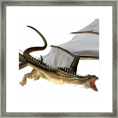 Blue Wasp Dragon Swoop Framed Print by Corey Ford