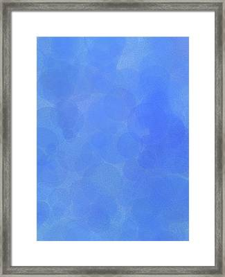 Blue Water Bubbles Framed Print by Dan Sproul