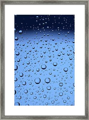 Blue Water Bubbles Framed Print by Frank Tschakert