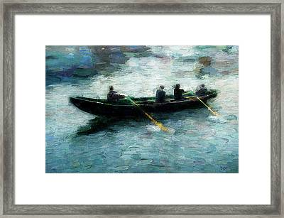 Blue Water Framed Print by Declan O'Doherty