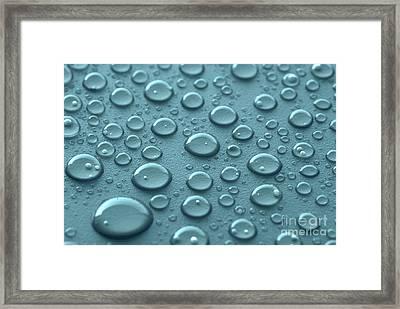 Blue Water Drops Framed Print