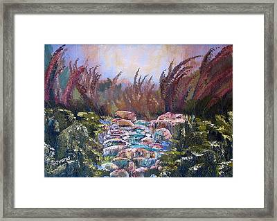 Blue Water Framed Print by Laura Tveras