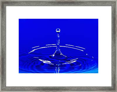 Blue Water Splashing Framed Print