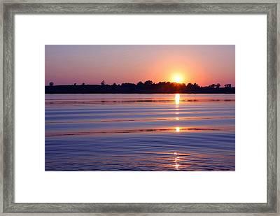 Blue Water Sunset Framed Print by Jim  Darnall