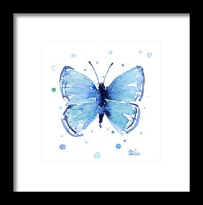Butterfly Abstract Framed Prints