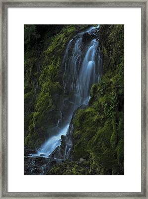 Blue Waterfall Framed Print by Yulia Kazansky
