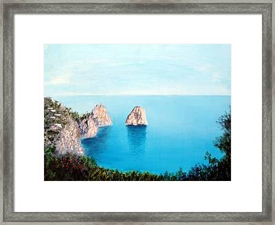 Blue Waters Of Capri  Framed Print