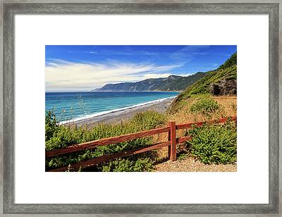 Framed Print featuring the photograph Blue Waters Of The Lost Coast by James Eddy