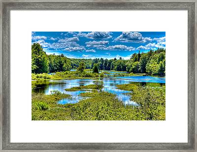 Blue Waters Of The Moose River Framed Print