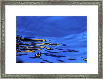 Blue Wave Abstract Number 2 Framed Print by Steve Gadomski