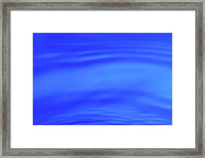 Blue Wave Abstract Number 4 Framed Print by Steve Gadomski