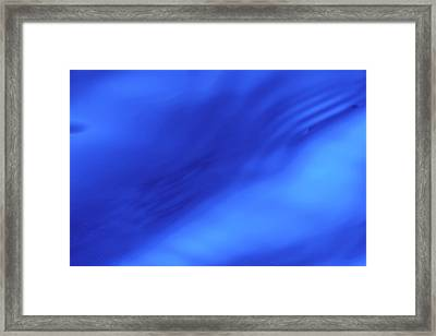 Blue Wave Abstract Framed Print by Steve Gadomski