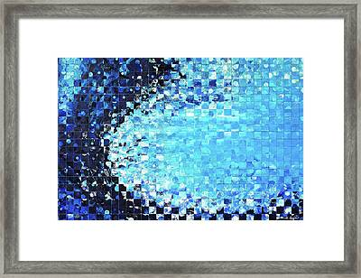 Blue Wave Art - Pieces 7 - Sharon Cummings Framed Print by Sharon Cummings