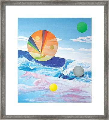 Blue Wave Framed Print by Eliot LeBow