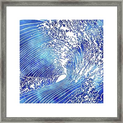 Blue Wave II Framed Print