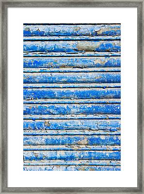 Blue Weathered Metal  Framed Print