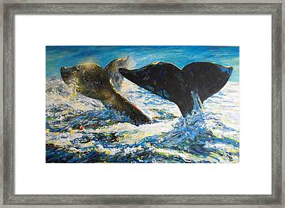 Blue Whales Framed Print