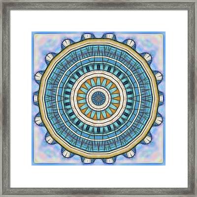 Framed Print featuring the digital art Blue Wheeler 1 by Wendy J St Christopher