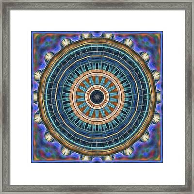 Framed Print featuring the digital art Blue Wheeler 2 by Wendy J St Christopher