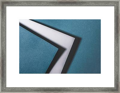 Blue White Blue Framed Print