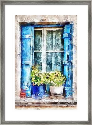 Blue Window 2 Framed Print