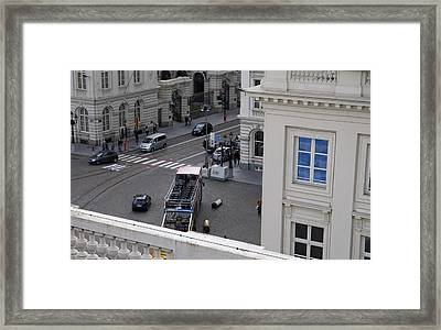 Blue Window Framed Print by Mark Chevalier