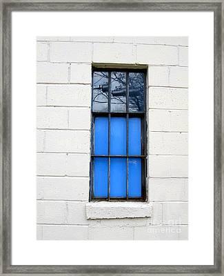 Blue Window Panes Framed Print